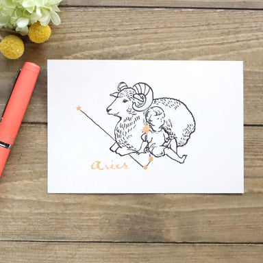 Constellations Postcard - Aries