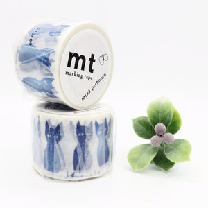 mt x Mina Perhonen Washi Tape - Blue Cat MTMINA37
