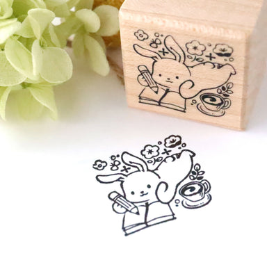Rubber Stamp - Bunny Memo