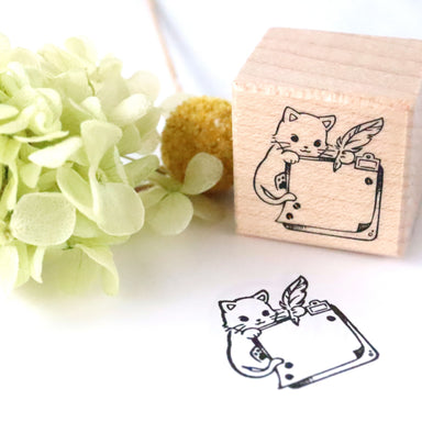 Rubber Stamp - Cat Memo