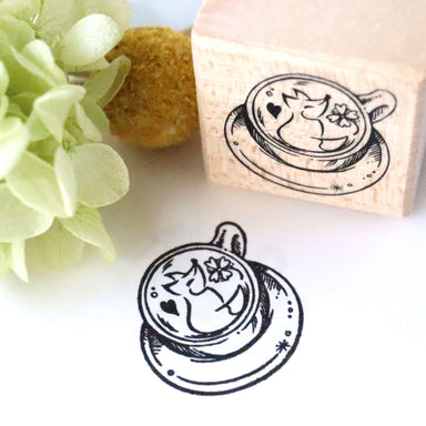 Rubber Stamp - Fox Latte Art