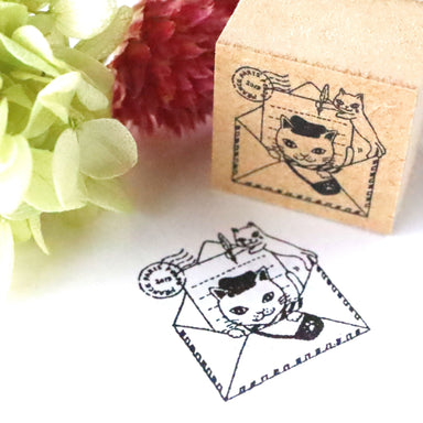 Rubber Stamp - Cat Mail