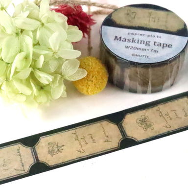 Washi Tape - oil lavel black