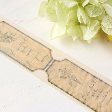 Washi Tape - oil lavel beige