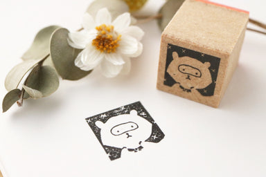 Limited Edition Seitousha Rubber Stamp - Raccoon