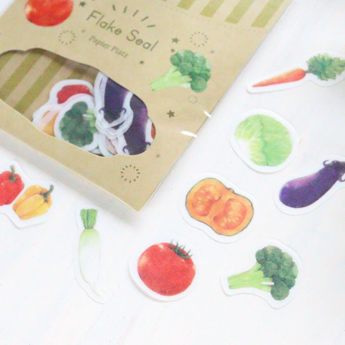 Flake Stickers - Vegetable