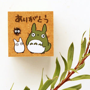 Totoro Rubber Stamp - Thank You