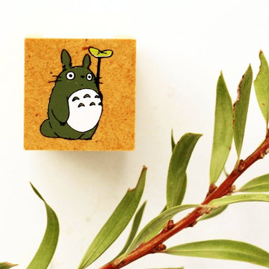Totoro Rubber Stamp - Leaf