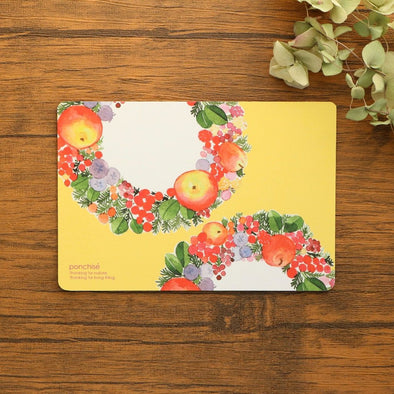 Apple and Berry Postcard