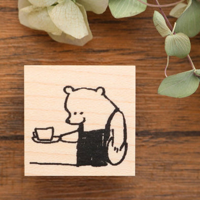 momoro Rubber Stamp - Coffee Shop