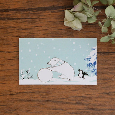 momoro Mini Message Card - Winter Wonderland