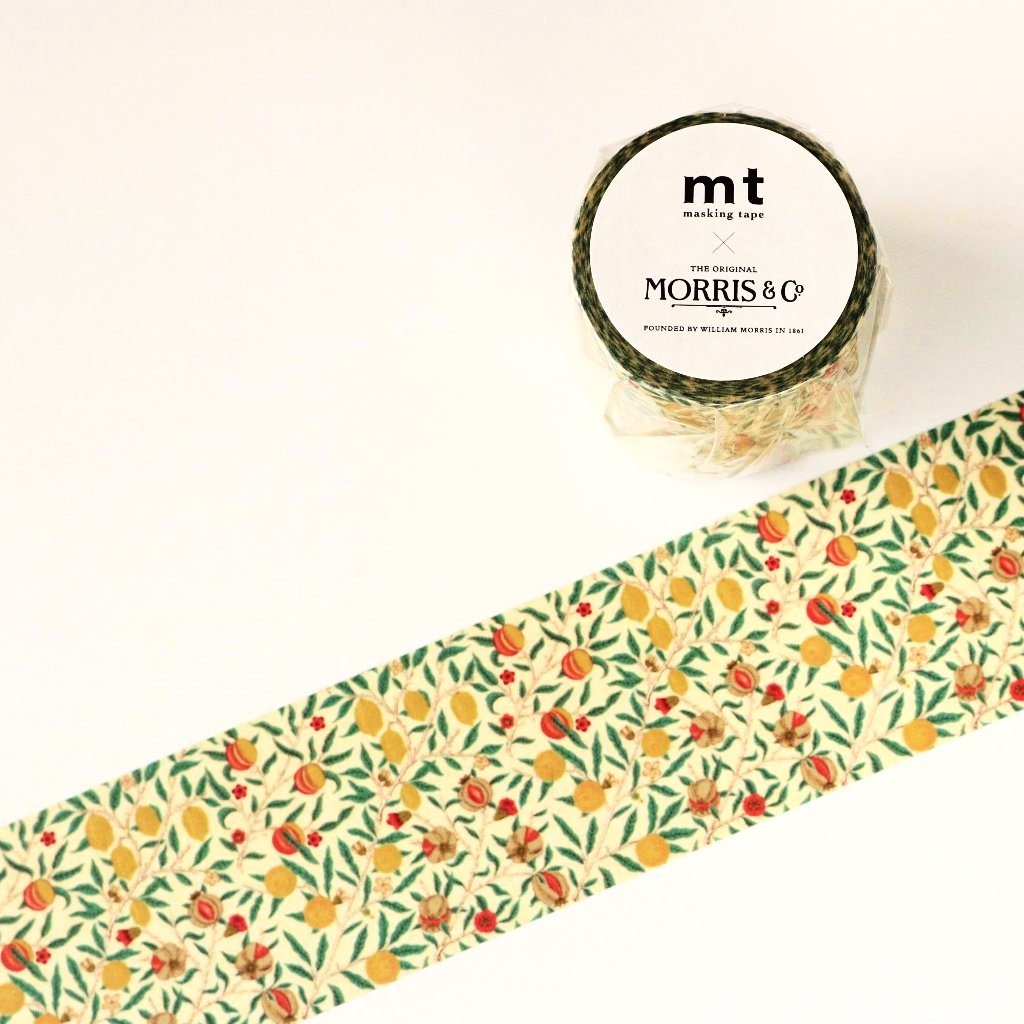 mt x William Morris Washi Tape - Fruits MTWILL04