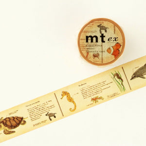 mt Washi Tape - Encyclopedia Sea Animals MTEX1P70