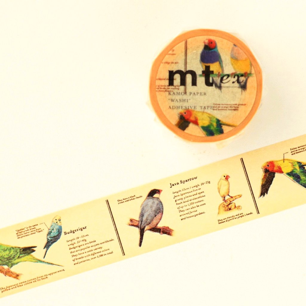 mt Washi Tape - Encyclopedia Birds MTEX1P90