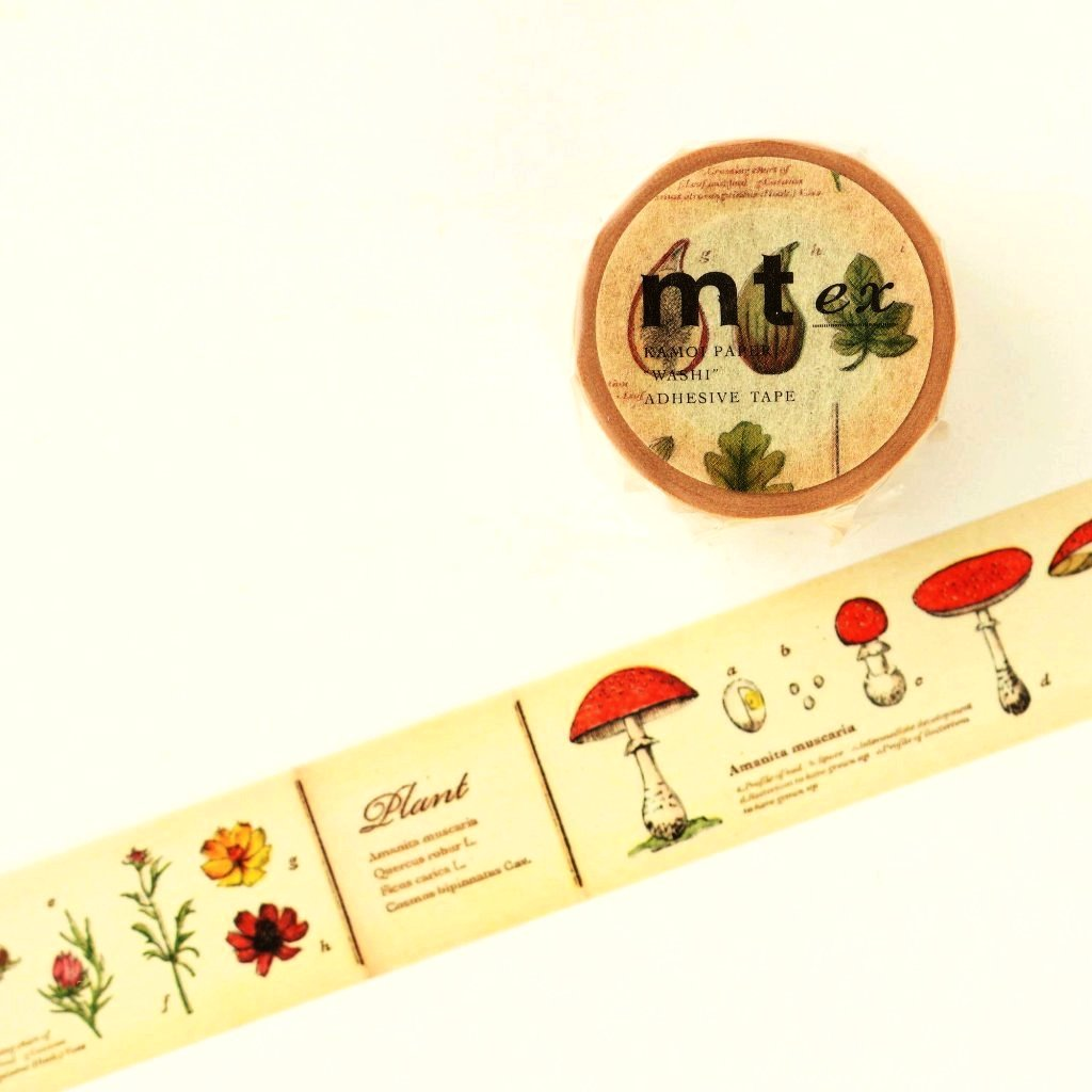 mt Washi Tape - Encyclopedia Plants MTEX1P34