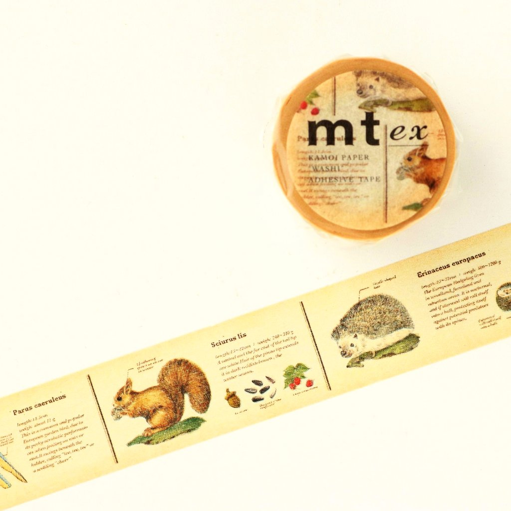 mt Washi Tape - Encyclopedia Animals MTEX1P36
