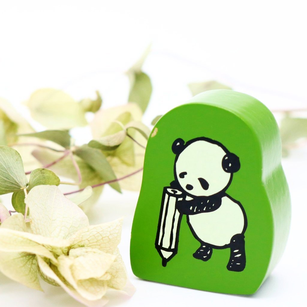 Panda Rubber Stamp - Writing