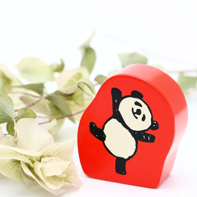 Panda Rubber Stamp - Happy