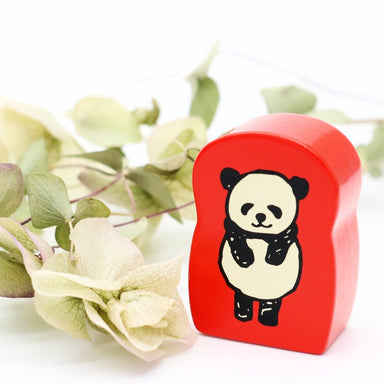 Panda Rubber Stamp - Bowing