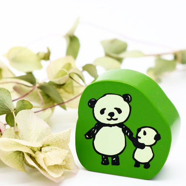 Panda Rubber Stamp - With Mama