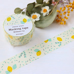 nocogou Washi Tape - Rosemary & Lemon