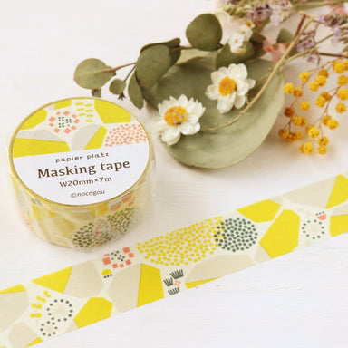 nocogou Washi Tape - Stone Wall Yellow