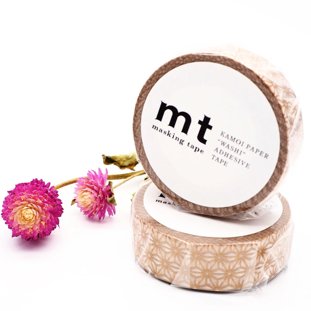 mt Washi Tape - Gold Asanoha MT01D214