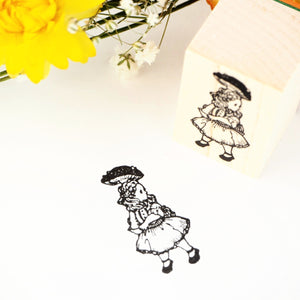 Rubber Stamp - Alice with Mushroom