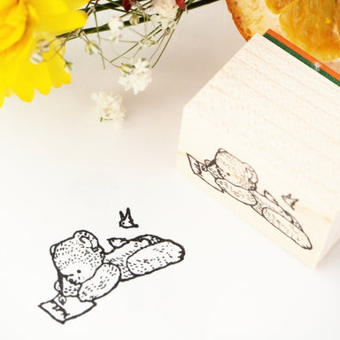 Rubber Stamp - Writing Bear