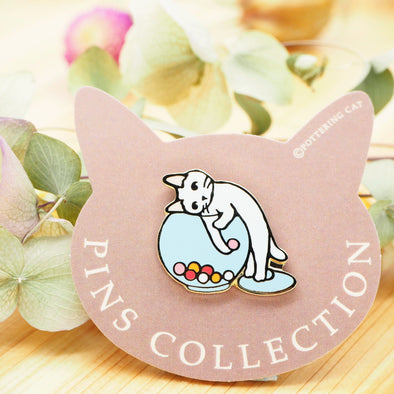 Pottering Cat Pin - Candies