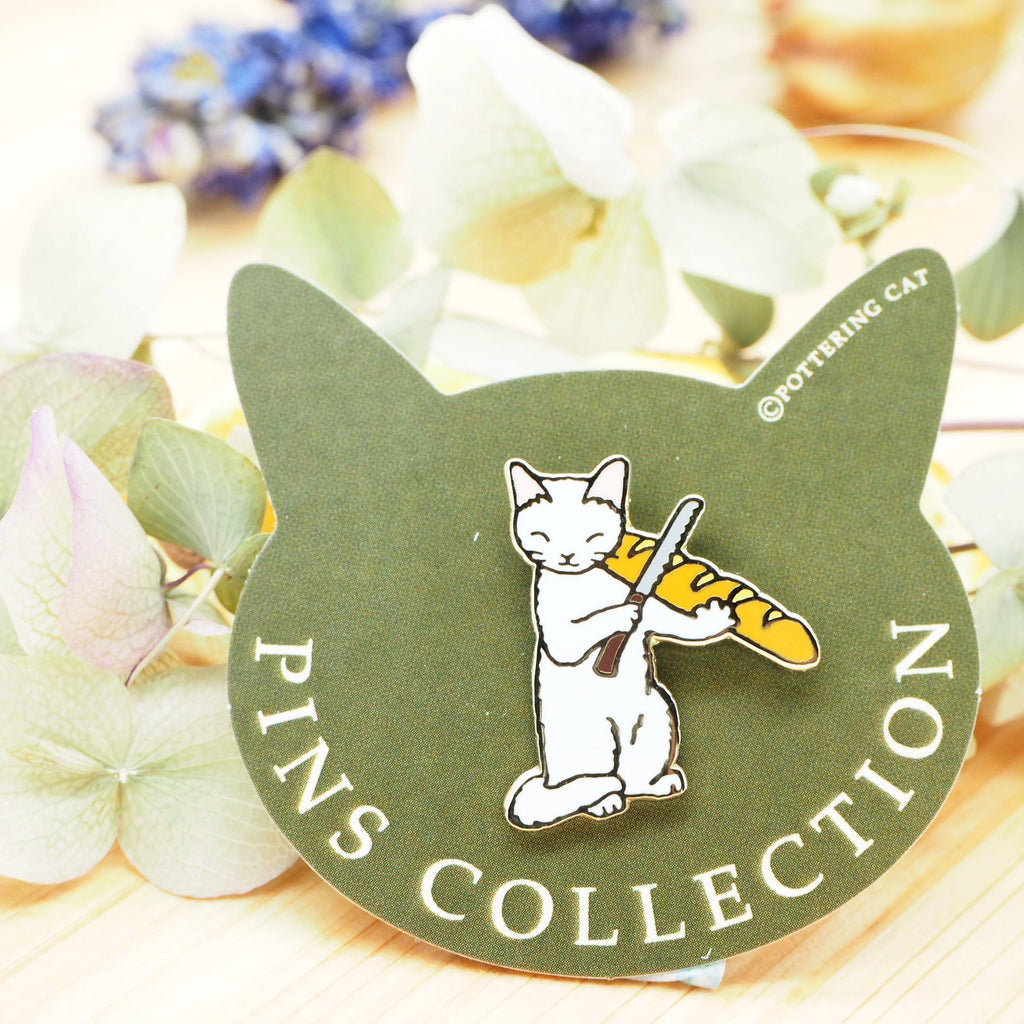 Pottering Cat Pin - Music
