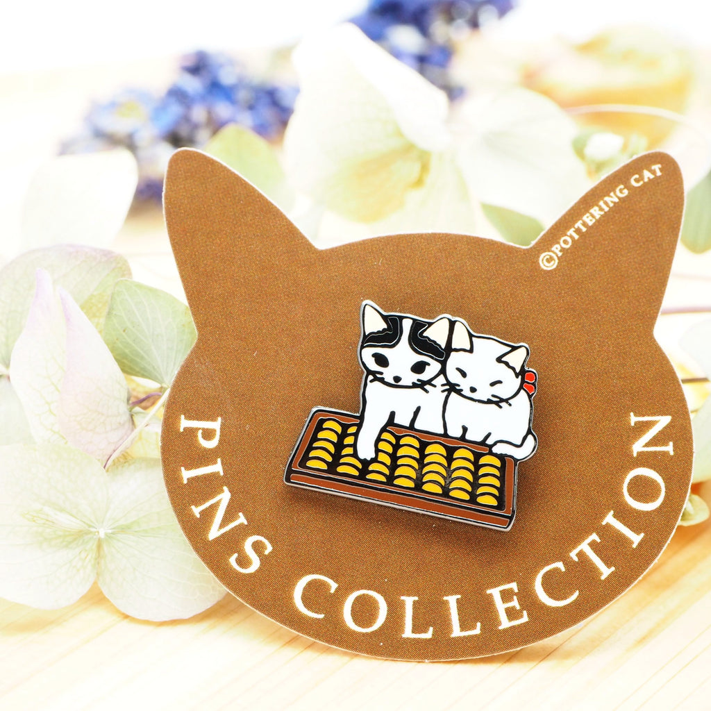Pottering Cat Pin - Abacus