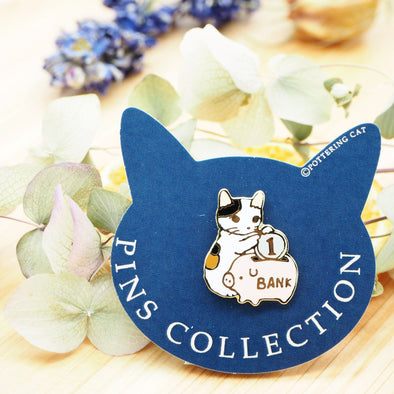 Pottering Cat Pin - Piggy Bank