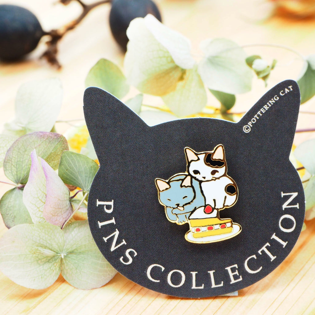 Pottering Cat Pin - Can we eat?
