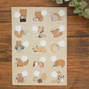 momoro Planner Stickers - Bear's Coffee Shop