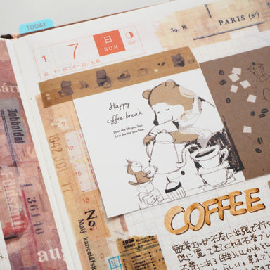 momoro Mini Message Card - Coffee Shop