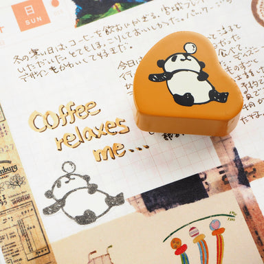 Panda Rubber Stamp - Sleeping