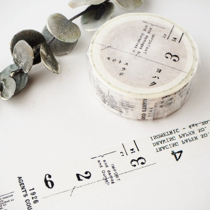 YOHAKU Collage Washi Tape - Letters & Numbers