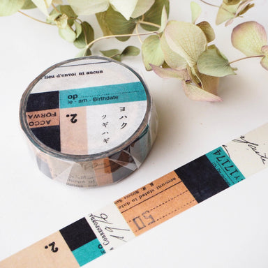 YOHAKU Collage Washi Tapes - Tsugihagi