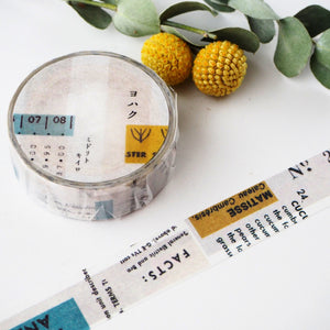 YOHAKU Collage Washi Tape - Yellow & Green