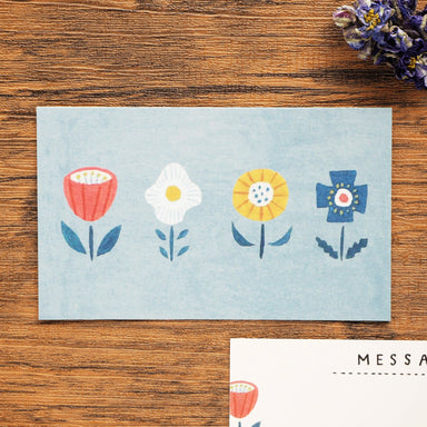 Mini Message Card - Flower