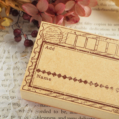 Tokyo Antique Rubber Stamp - Address Label