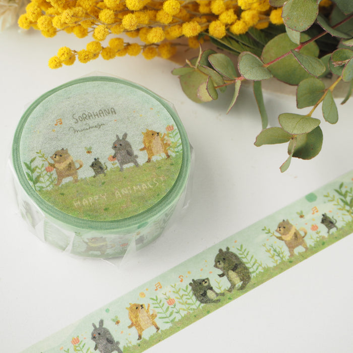 Muumegu Washi Tape - Happy Animals