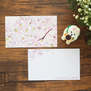 Mini Message Card - Cherry Blossom