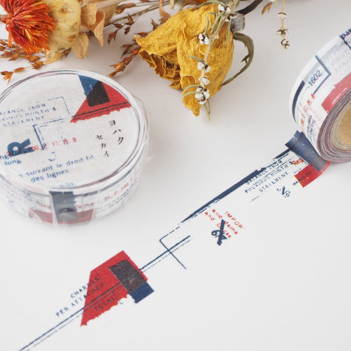 YOHAKU Collage Washi Tape - World