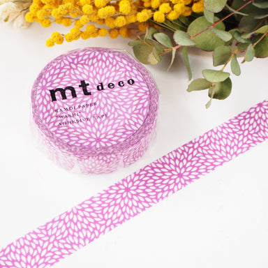 Washi Tape - Violet Chrysanthemum