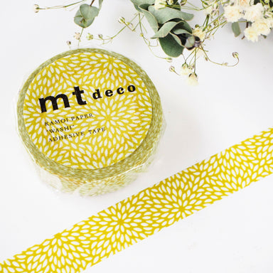 Washi Tape - Yellow Chrysanthemum