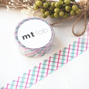 mt fab Washi Tape - Purple Check MTPL1P01
