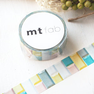 mt fab Washi Tape - Pastel Tile MTPL1P06