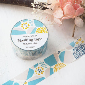 nocogou Washi Tape - Stone Wall Blue